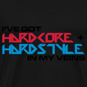 Black Hardcore + Hardstyle Jumpers  - Men's Premium T-Shirt