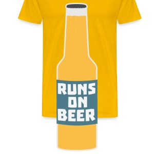 Runs on beer bottle Scy3l-design Mugs & Drinkware - Men's Premium T-Shirt