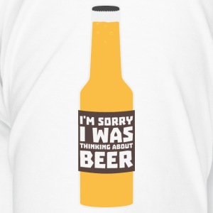Thinking about beer bottle Sjz0m-design Mugs & Drinkware - Men's Premium T-Shirt