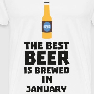 Best Beer is brewed in January Sxe8k-Design Krus & tilbehør - Herre premium T-shirt
