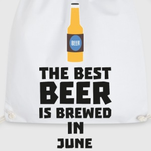 In June, the best beer is brewed. S1u77 design Mugs & Drinkware - Drawstring Bag