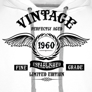 Vintage Perfectly Aged 1960 T-Shirts - Men's Premium Hoodie