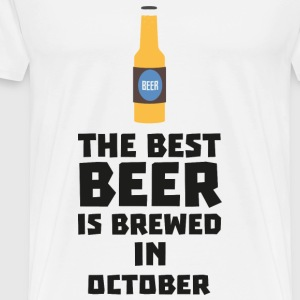 In October, best beer is brewed. S5k5z design Mugs & Drinkware - Men's Premium T-Shirt