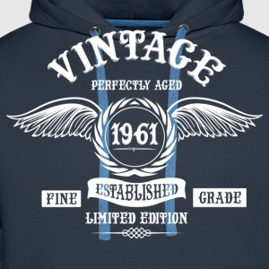 Vintage Perfectly Aged 1961 T-Shirts - Men's Premium Hoodie