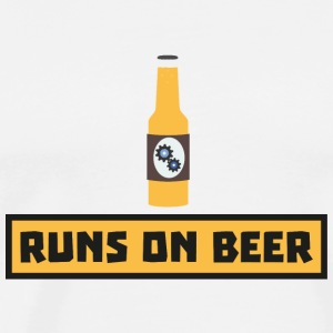 Runs on beer Smk10 design Mugs & Drinkware - Men's Premium T-Shirt
