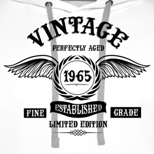 Vintage Perfectly Aged 1965 T-Shirts - Men's Premium Hoodie