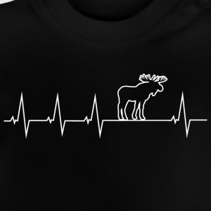 I love moose - Heartbeat Manga larga - Camiseta bebé