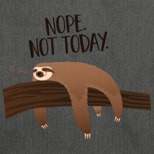 Sleeping Sloth | Nope. Not Today. T-Shirts - Shoulder Bag made from recycled material