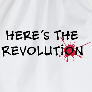 Here's the Revolution, Bloodstain, Politics Magliette - Sacca sportiva