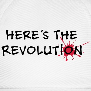 Here's the Revolution, Bloodstain, Politics T-Shirts - Baseball Cap