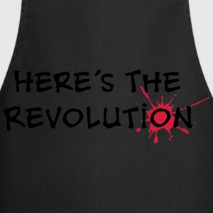 Here's the Revolution, Bloodstain, Politics T-Shirts - Cooking Apron