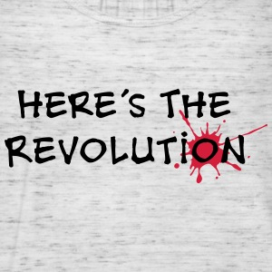 Here's the Revolution, Bloodstain, Politics T-shirts - Dame tanktop fra Bella