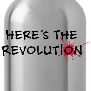 Here's the Revolution, Bloodstain, Politics T-Shirts - Water Bottle
