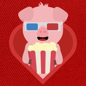 Cinema pig with popcorn in the heart of Sxitv design Mugs & Drinkware - Snapback Cap