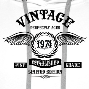 Vintage Perfectly Aged 1974 T-Shirts - Men's Premium Hoodie