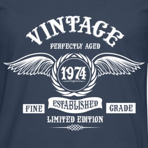 Vintage Perfectly Aged 1974 T-Shirts - Men's Premium Longsleeve Shirt