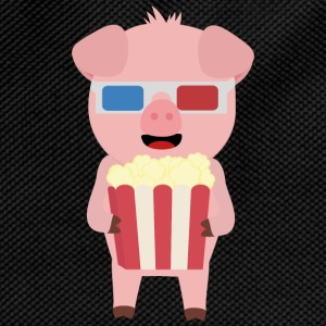 Cinema pig with popcorn Syllr design Mugs & Drinkware - Kids' Backpack
