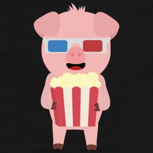 Cinema pig with popcorn Syllr design Mugs & Drinkware - Men's Premium T-Shirt