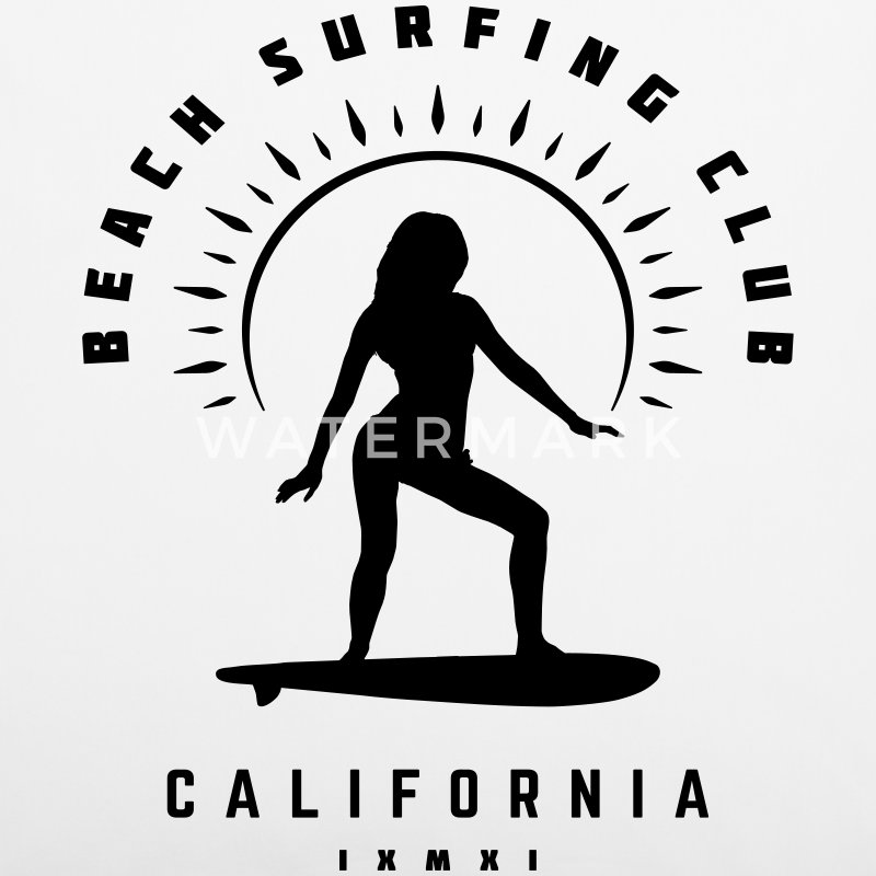 Beach Surfing Club California  - Kissenbezug 40 x 40 cm