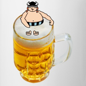 Blanc bain de bière viking / beer bathing viking (DDP) Badges - Tasse