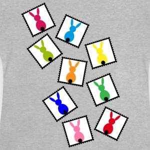 Stamps with easter rabbits / easter bunnies Shirts - Baby T-Shirt