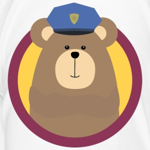 Policeman brown bears in cirlce S91xu design Mugs & Drinkware - Men's Premium T-Shirt