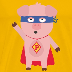 Super Hero pig Smo2d design Mugs & Drinkware - Men's Premium T-Shirt