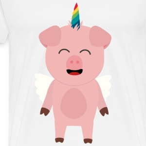 Pork with Unicorn Ssopc design Mugs & Drinkware - Men's Premium T-Shirt