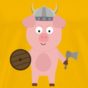 Viking pig with helmet S9bpa-design Mugs & Drinkware - Men's Premium T-Shirt