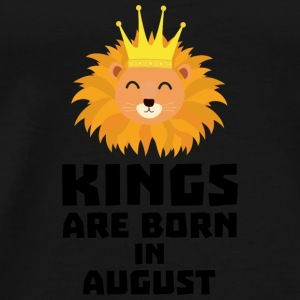 Kings are born in AUGUST S32zl Baby Long Sleeve Shirts - Men's Premium T-Shirt