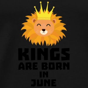 Kings are born in JUNE S6jk8 Baby Long Sleeve Shirts - Men's Premium T-Shirt