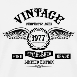 Vintage Perfectly Aged 1977 Tops - Men's Premium T-Shirt