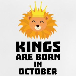Kings are born in OCTOBER Szx1p Shirts - Baby T-Shirt