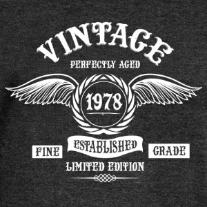Vintage Perfectly Aged 1978 T-Shirts - Women's Boat Neck Long Sleeve Top