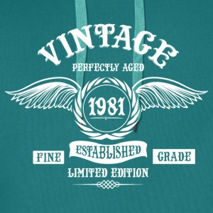 Vintage Perfectly Aged 1981 T-Shirts - Men's Premium Hoodie