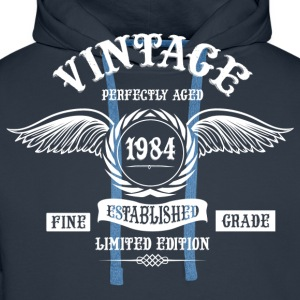 Vintage Perfectly Aged 1984 T-Shirts - Men's Premium Hoodie