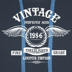 Vintage Perfectly Aged 1986 T-Shirts - Men's Premium Hoodie