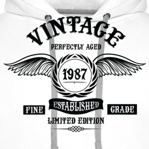 Vintage Perfectly Aged 1987 T-Shirts - Men's Premium Hoodie