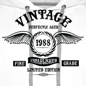 Vintage Perfectly Aged 1988 T-Shirts - Men's Premium Hoodie
