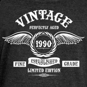 Vintage Perfectly Aged 1990 T-Shirts - Women's Boat Neck Long Sleeve Top