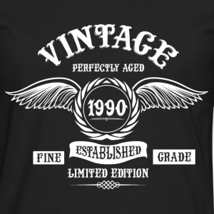 Vintage Perfectly Aged 1990 T-Shirts - Men's Premium Longsleeve Shirt