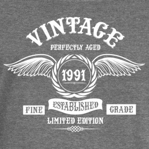Vintage Perfectly Aged 1991 T-Shirts - Women's Boat Neck Long Sleeve Top