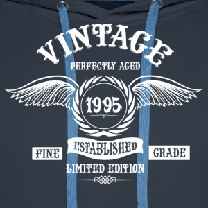 Vintage Perfectly Aged 1995 T-Shirts - Men's Premium Hoodie