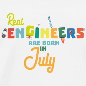 Engineers are born in July S6n9z Baby Long Sleeve Shirts - Men's Premium T-Shirt