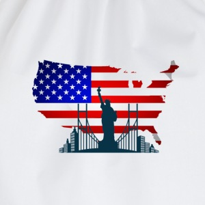 I Love USA T-shirts - Gymnastikpåse