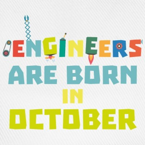 Engineers are born in October S3zoj T-Shirts - Baseball Cap