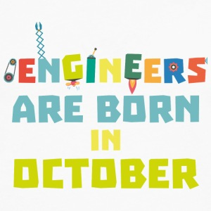 Engineers are born in October S3zoj T-Shirts - Men's Premium Longsleeve Shirt
