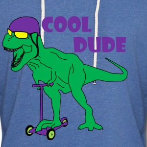t-rex cool dude - Light Unisex Sweatshirt Hoodie