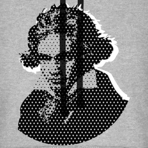 Beethoven in Dots - Black T-Shirts - Unisex Baseball Hoodie