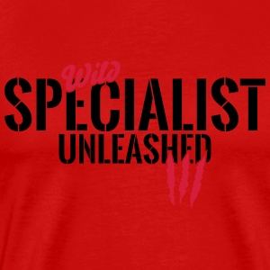 Wild professional unleashed Long Sleeve Shirts - Men's Premium T-Shirt